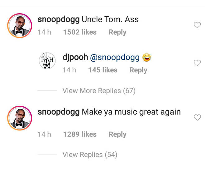 Snoop Dogg Responding To Kanye West Image On Instagram