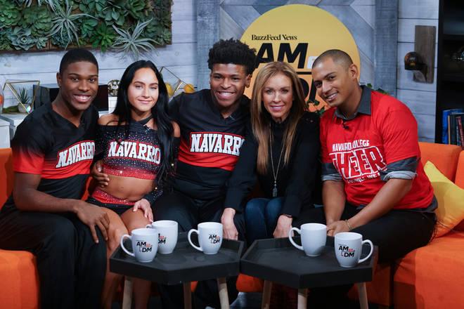 La'Darius Marshall, Gabi Butler, Jerry Harris and Monica Aldama from Netflix's 'Cheer'.