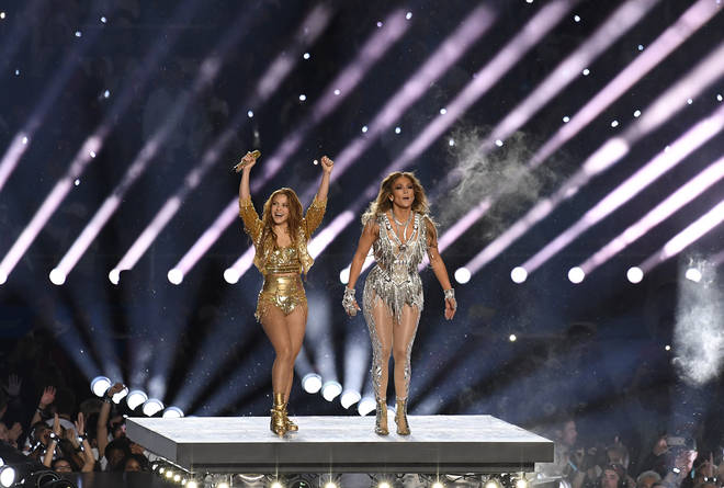 Shakira (left) and Jennifer Lopez performed together at the  Super Bowl LIV Halftime Show in Miami back in February.