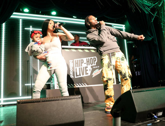 Cardi B, baby Kulture and Offset perform in New York back in October 2019