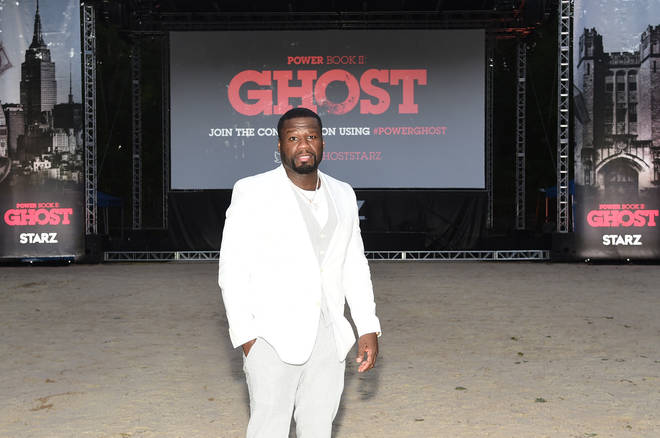 "50 Cent attends the Hamptons premiere of ""POWER BOOK II: GHOST"" on Sept 5."