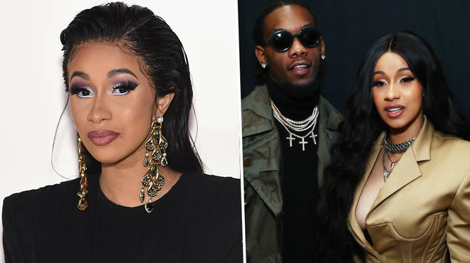 "Cardi B claps back at fans claiming she&squot;s divorcing Offset for ""attention"""