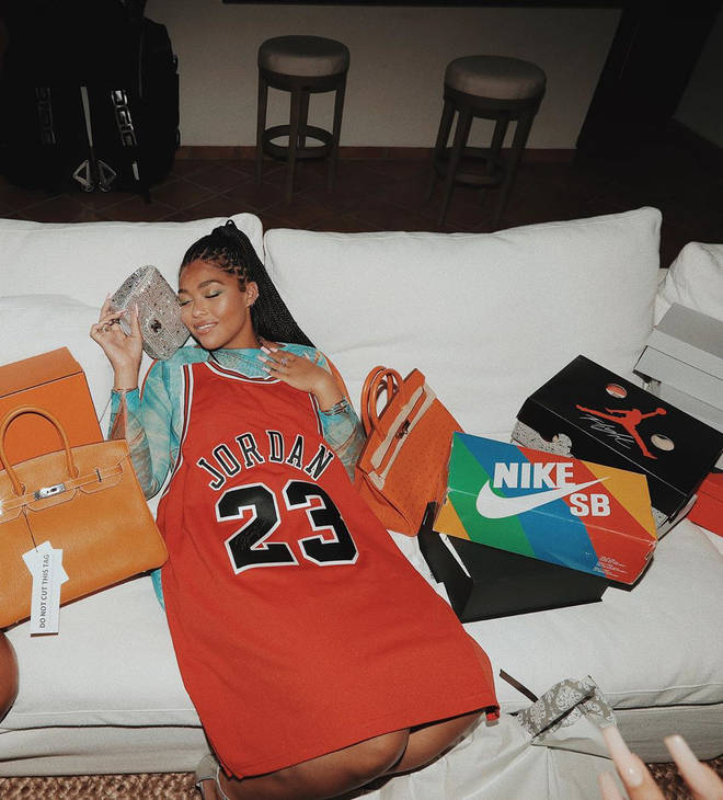 The star was gifted two Birkin bags and a Chanel purse for her birthday, likely by her new boyfriend Karl-Anthony Towns.