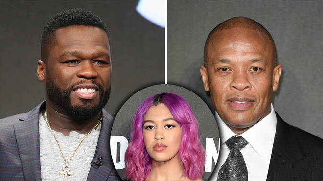"""50 Cent responds to Dr. Dre's daughter calling him """"ugly"""" & """"washed up"""""""