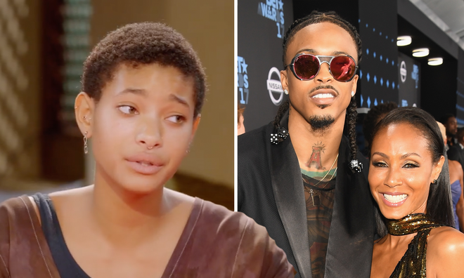 "Willow Smith is ""proud"" of Jada Pinkett-Smith for August Alsina confession."