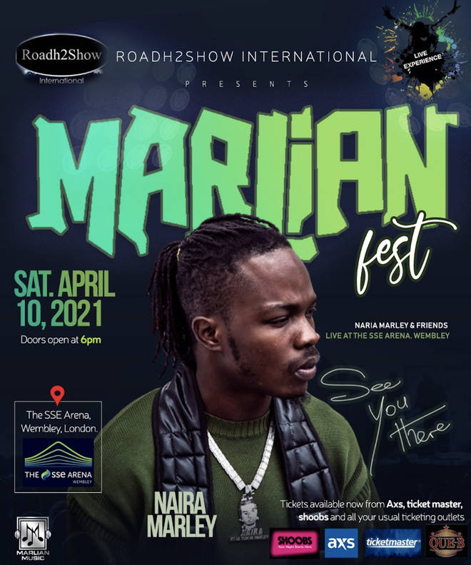 Naira Marley is bringing his Marlian Fest is coming to the UK next year, taking place at Wembley's SSE Arena in London on April 10th, 2021.