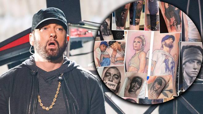 Eminem superfan reveals record-breaking 16 tattoos of rapper's face