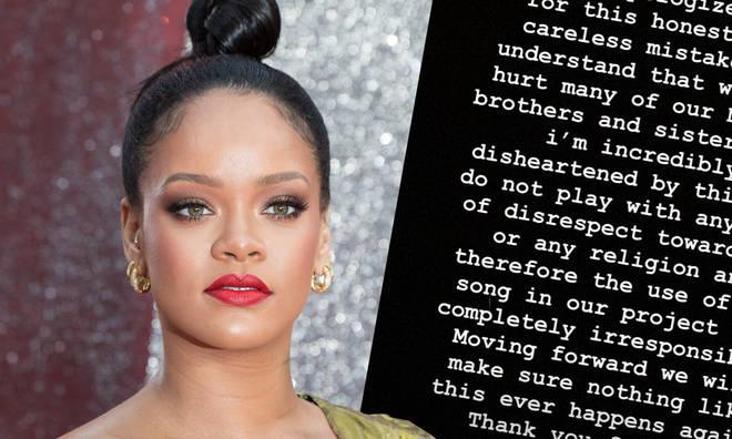 Rihanna apologises for using Islamic hadith in Savage X Fenty show