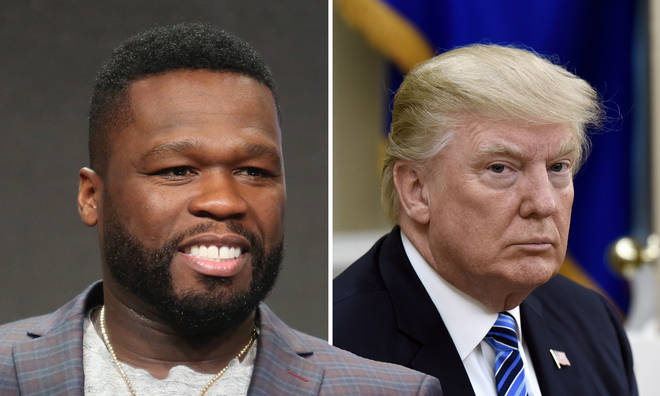 50 Cent encourages fans to vote for Donald Trump.