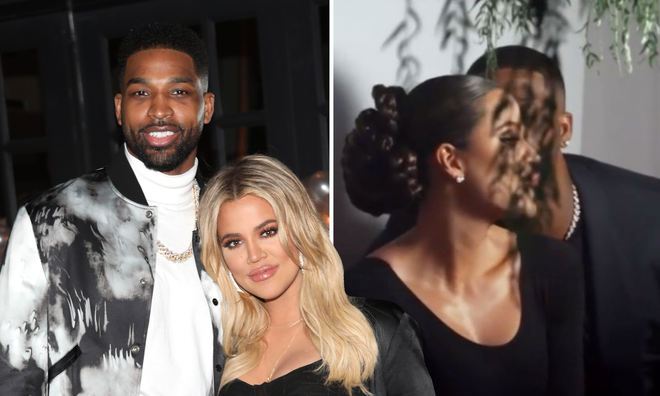 Khloe Kardashian & Tristan Thompson 'confirm relationship' with kiss.