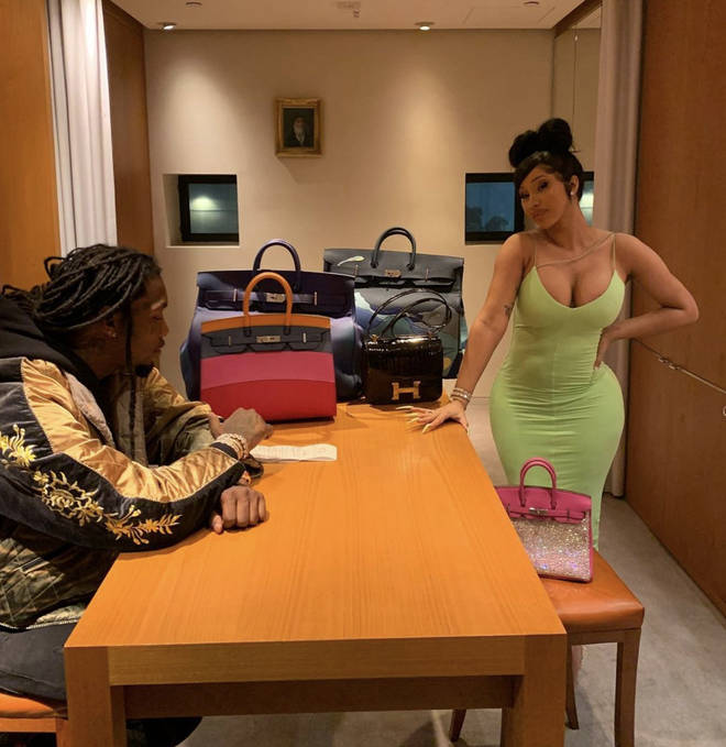 Offset shares photo of himself shopping with his wife Cardi B