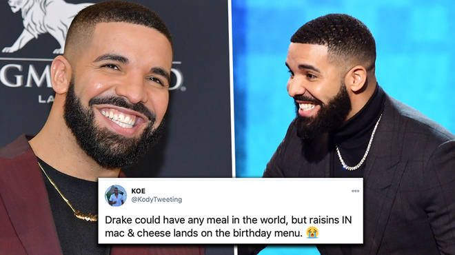 Drake roasted over odd food choice on birthday party menu