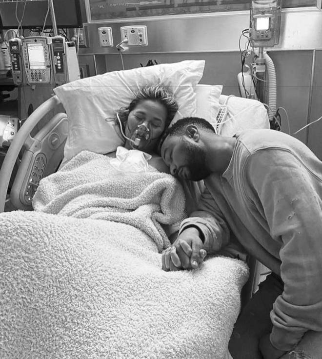 After many blood transfusions, Chrissy recalled the moment it was time to say goodbye to her baby.