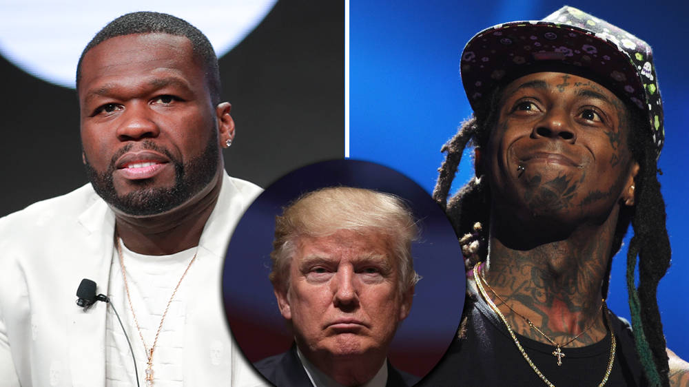 50 Cent reacts to Lil Wayne endorsing Donald Trump in new photo