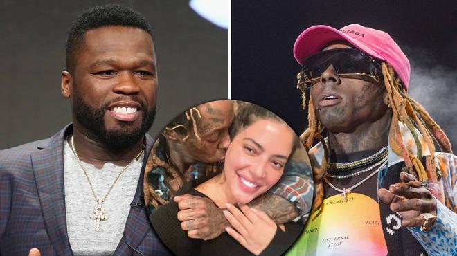 50 Cent reacts to Lil Wayne & Denise Bidot's alleged split