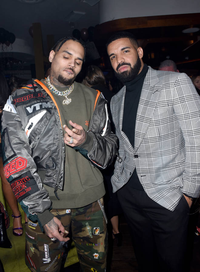 Chris Brown reveals he and Drake have unreleased music