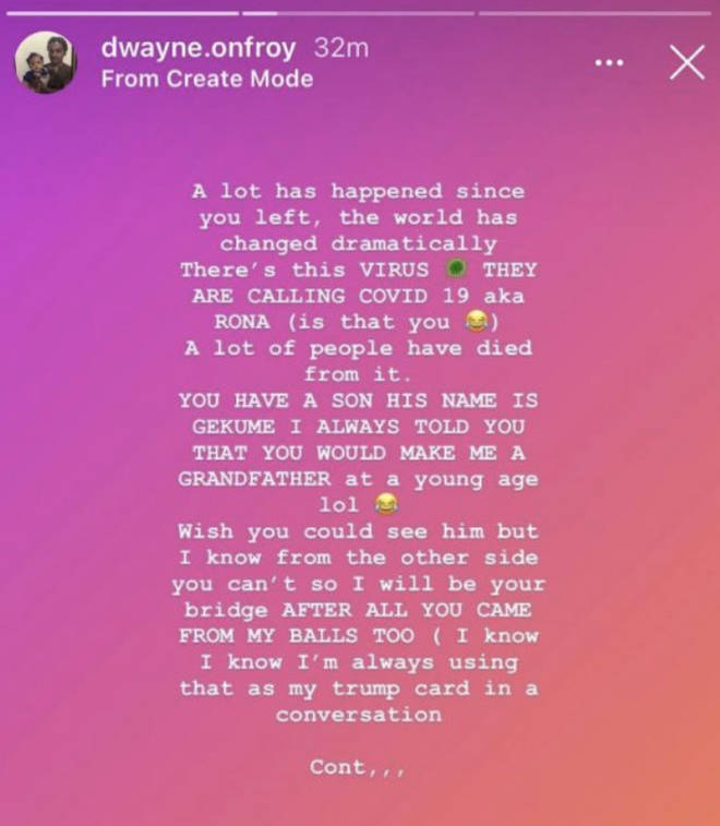 XXXTentacion's father pens a letter to his son on Instagram