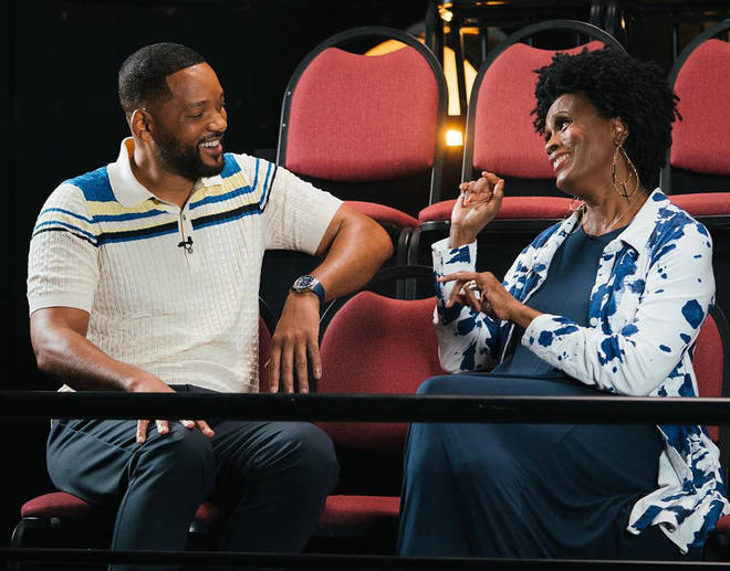 Will Smith reunited with Janet Hubert, who portrayed Aunt Viv in the first three seasons of the show.