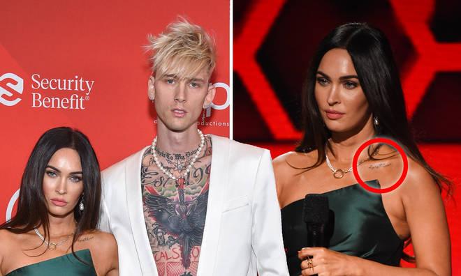 Megan Fox debuts tattoo tribute to boyfriend Machine Gun Kelly