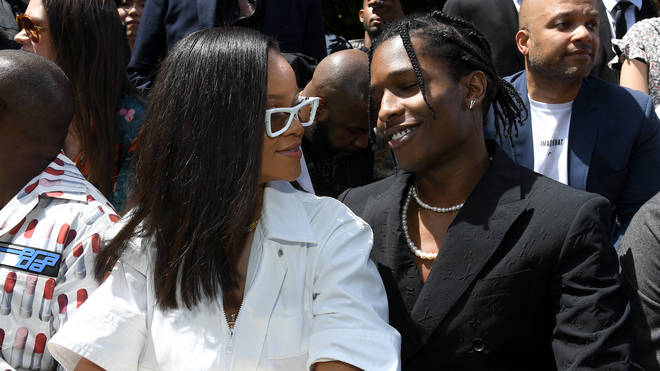 Rihanna and A$AP Rocky sparked dating rumours as they attended the 2018 Louis Vuitton fashion show together