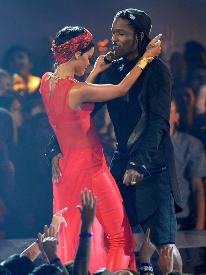 In 2012, Rihanna and A$AP Rocky performed on stage at the MTV Video Music Awards together