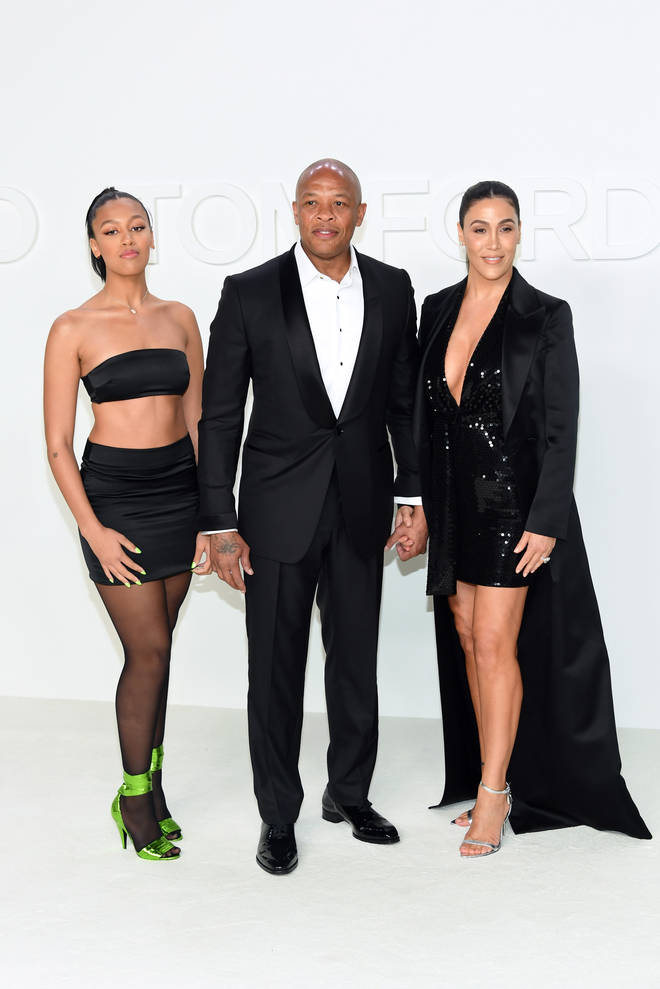 Dr. Dre shares daughter Truly (left) and son Truice (not pictured) with his estranged wife Nicole Young (right).