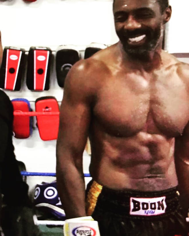 Idris Elba reflected on his professional boxing debut.