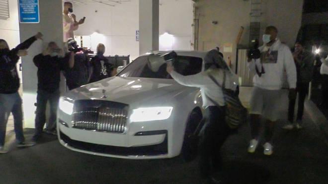 Jenner was ambushed as she left Moncler in Beverly Hills.