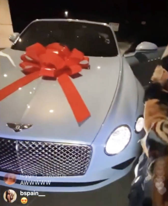 Quavo pulled out all the stops this Christmas after gifting his girlfriend Saweetie a custom Bentley.