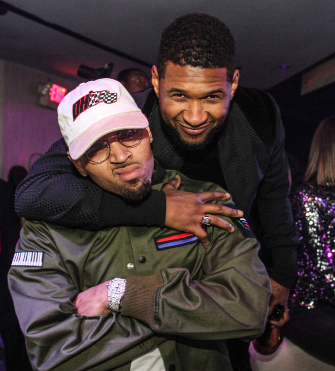 Usher and Chris Brown are two R&B artists who have previously collaborated