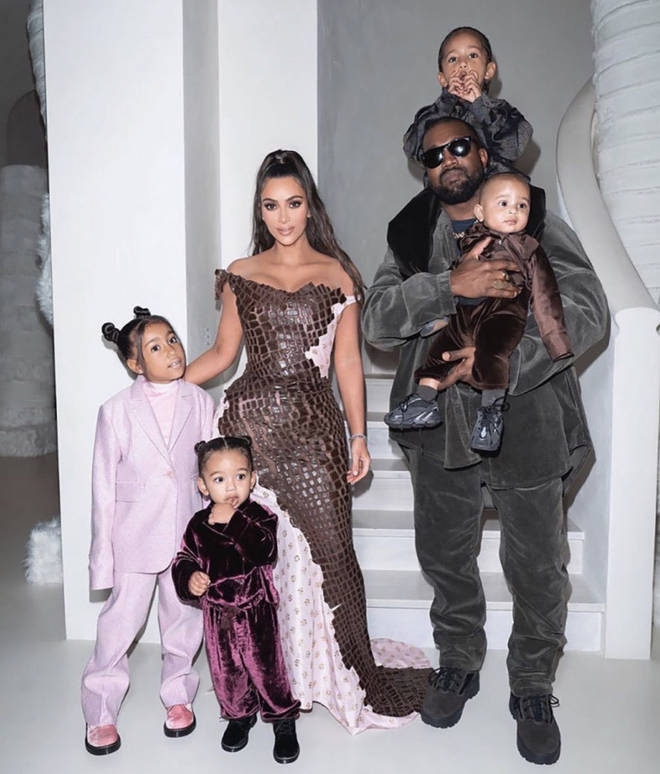 Kim and Kanye share four children: North West, Saint West, Chicago West, and Psalm West.