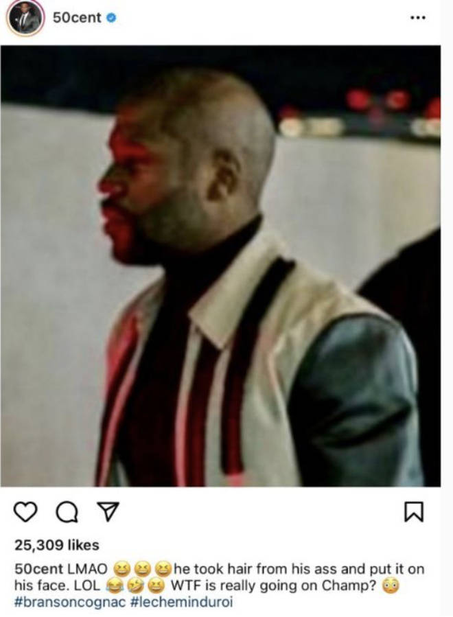 50 Cent roasts Floyd Mayweather on Instagram