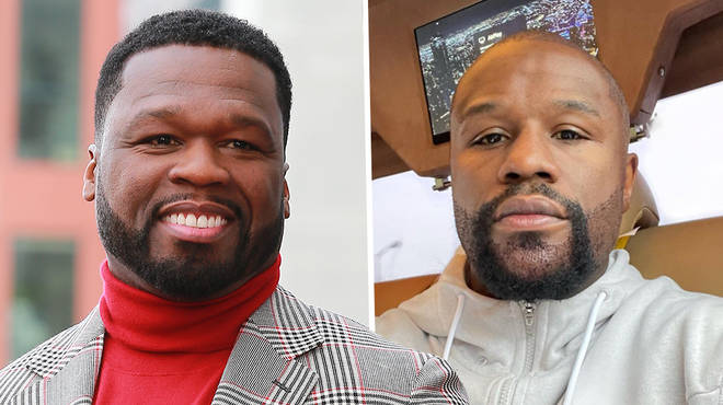 50 Cent savagely roasts Floyd Mayweather's beard hair transplant