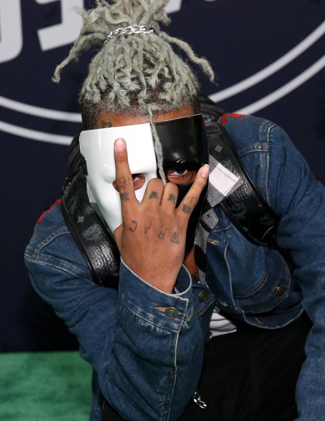XXXTentacion pictured at  the BET Hip Hop Awards 2017