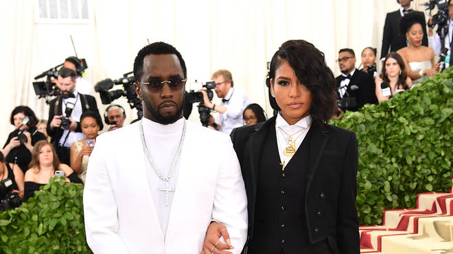 Diddy and Cassie on the red carpet during their 10 year relationship