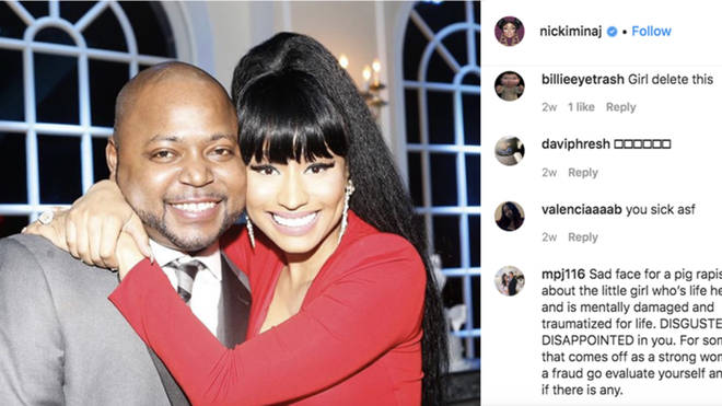 Nicki Minaj received backlash after sharing an image with her brother, Jelani