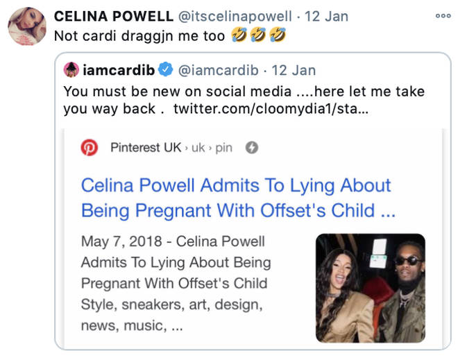 Celina Powell responds to Cardi B addressing her Offset claims on Twitter