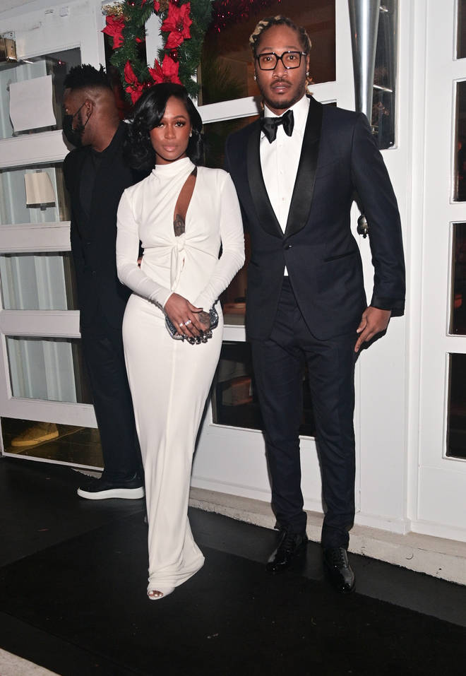 Fans sparked rumours that Future (L) and Dess Dior (R) got married after seeing them in formal wear