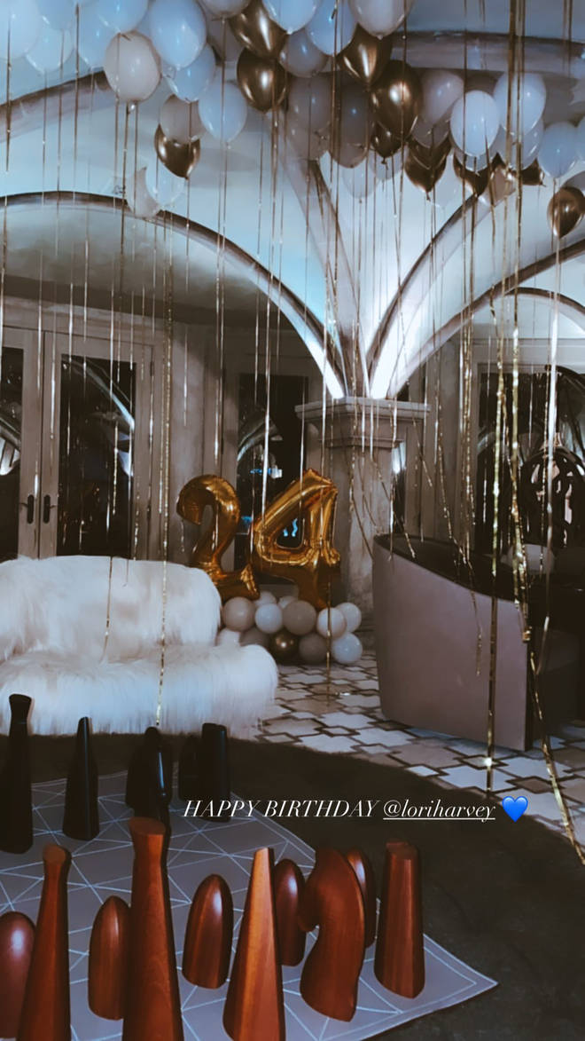 Lori Harvey's 24th birthday bash - Chill room