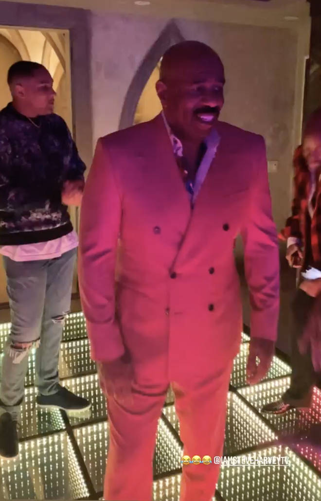 Lori Harvey's 24th birthday bash - Steve Harvey takes over the dance-floor