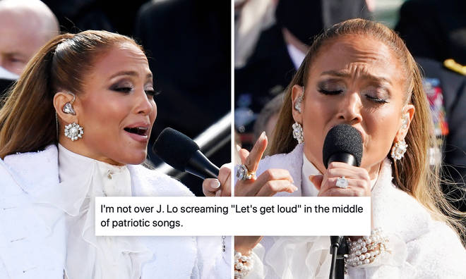 Jennifer Lopez roasted for singing 'Let's Get Loud' during Biden inauguration