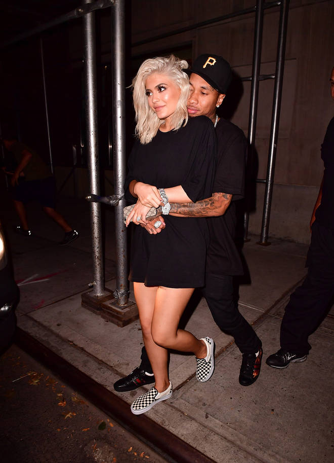 Kylie was first romantically linked to Tyga at her 17th birthday party.