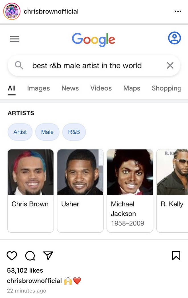 Chris Brown has subtly crowned himself the greatest male R&B singer in the world.