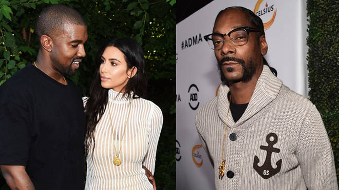 Kanye West, Kim Kardashian and Snoop Dogg