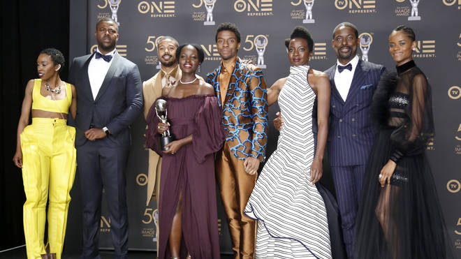 """The """"Black Panther"""" cast won two awards at the 50th NAACP Image Awards in 2019"""