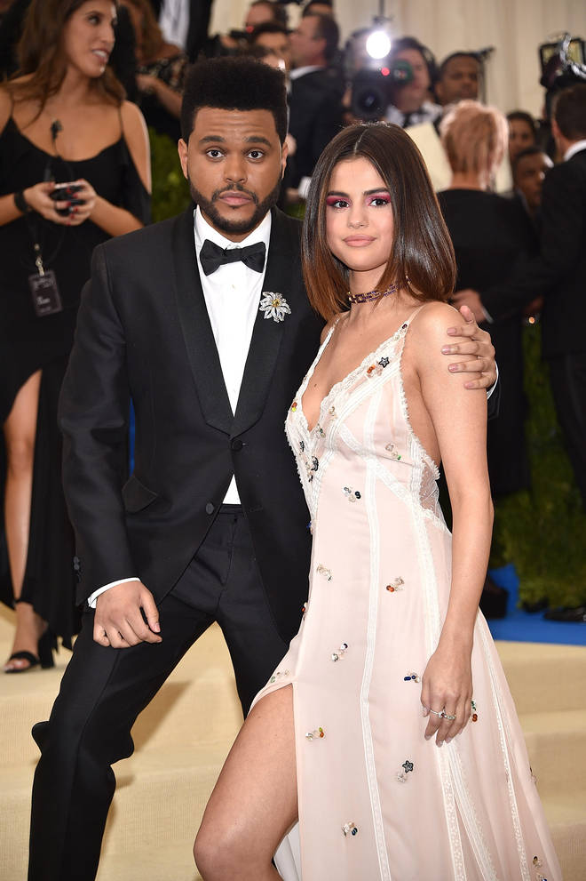 The Weeknd dated Selena Gomez in 2017.