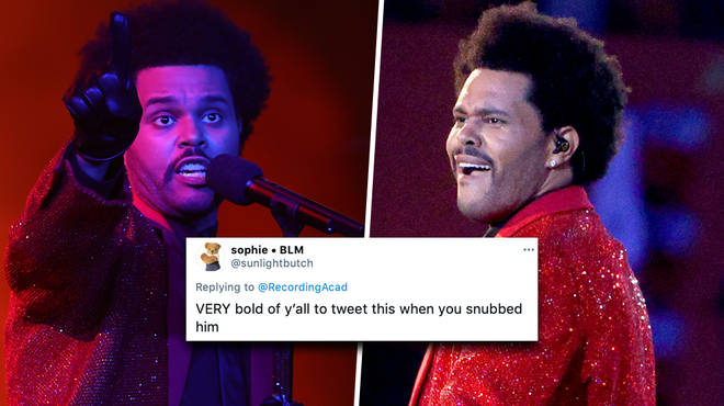 The Weeknd fans drag The Recording Academy over Super Bowl tweet