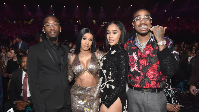 Migos, Cardi B, Saweetie, and Quavo attend the 2019 Billboard Music Awards