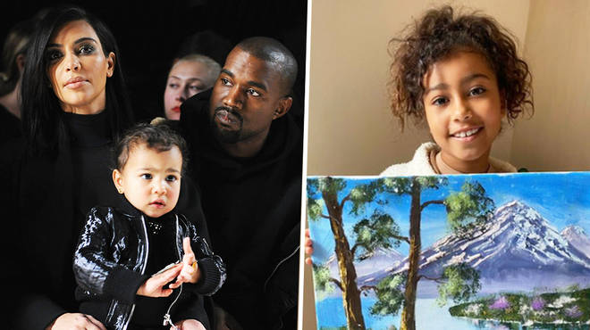 North West, 7, sparks hilarious memes after her oil painting goes viral