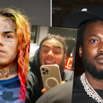 Tekashi 6ix9ine and Meek Mill fight in heated nightclub altercation.
